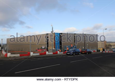 Menzieshill Community Centre under construction Dundee Scotland  18th February 2019 - Stock Image