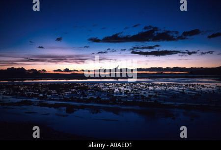 Sunrise Over Lake Titicaca, Peru, South America - Stock Image