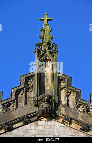 Detail of East End with Angel. Holy Trinity, Kendal Parish Church. Kirkland, Kendal, Cumbria, England, United Kingdom, Europe. - Stock Image