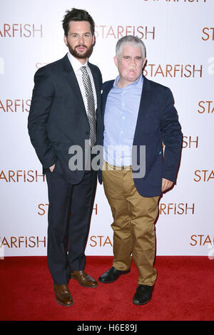 Tom Riley and Tom Ray attending the UK premiere of Starfish at the Curzon Mayfair cinema in London. - Stock Image