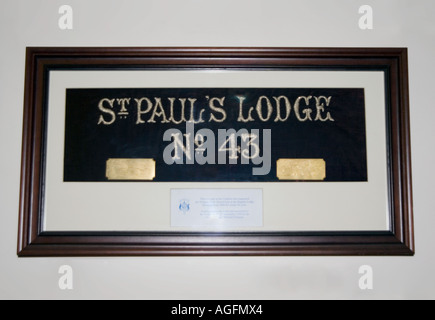 PICTURE CREDIT DOUG BLANE Inside a masonic lodge - Stock Image