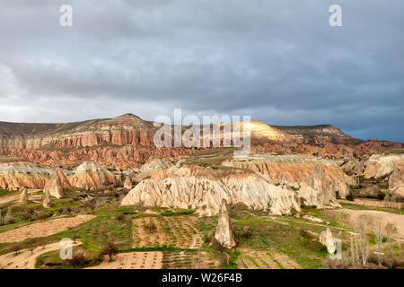 Cappadocia in Turkey, taken in April of 2019rnCreate Date                     : 2019:04:19 17:16:34rn' taken in hdr - Stock Image
