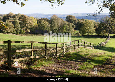 View of the Calder Valley, Warley, West Yorkshire - Stock Image