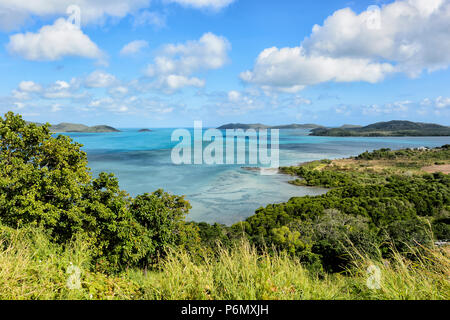 View of Torres Strait Islands from Green Hill Fort lookout, Thursday Island, Far North Queensland, FNQ, QLD, Australia - Stock Image