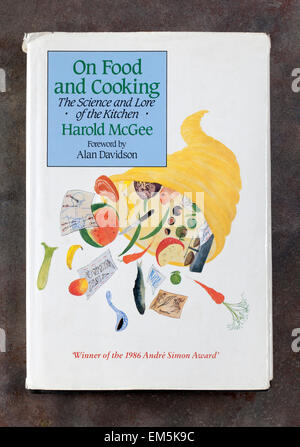 A copy of 'On Food and Cooking' by Harold McGee - Hardback Book - Stock Image