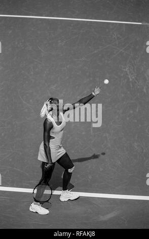 Venus Williams competing at the 1998 US Open Tennis Championships - Stock Image