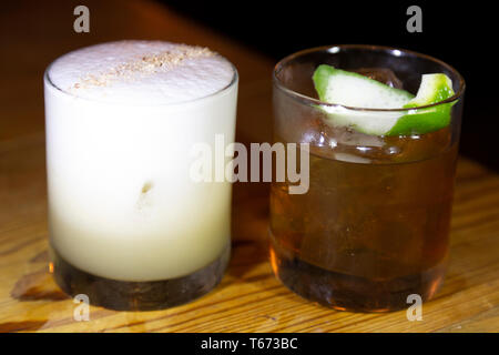 Cocktail served in Charleston, South Carolina, USA. The city is renowned for its nightlife. - Stock Image