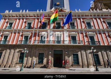 The Palacio Quemado official government residence, La Paz, Bolivia - Stock Image