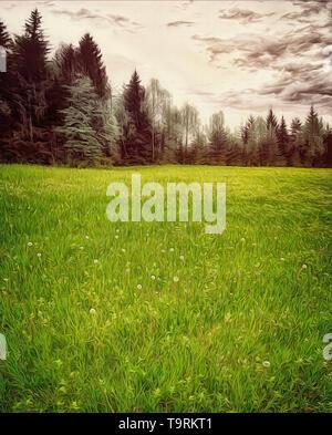 FINE ART: The Meadow  (Bavaria, Germany) - Stock Image