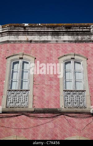 Portugal, Algarve, Silves, Colourful Architecture - Stock Image