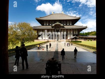 Todaiji temple, Nara, Japan - Stock Image