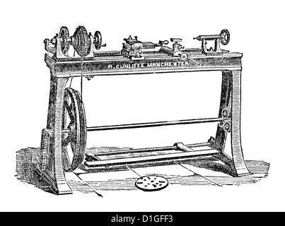 Antique Woodcut image 1872 origins fine vintage artwork - Stock Image