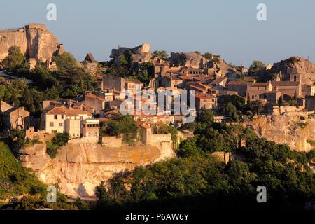France, Provence Alpes Cote d'Azur, Bouches du Rhone (13), Alpilles area, Les Baux de Provence - Stock Image