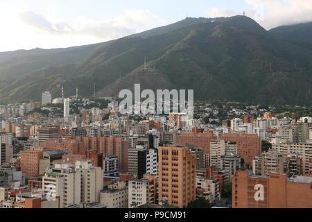 Buildings in Caracas Venezuela, photo taken from the Sabana Grande Area, Centro Comercial El Recreo. Vicente Quintero and Marcos Kirschstein - Stock Image