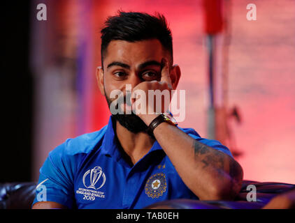 India's Virat Kohli during the Cricket World Cup captain's launch event at The Film Shed, London. - Stock Image