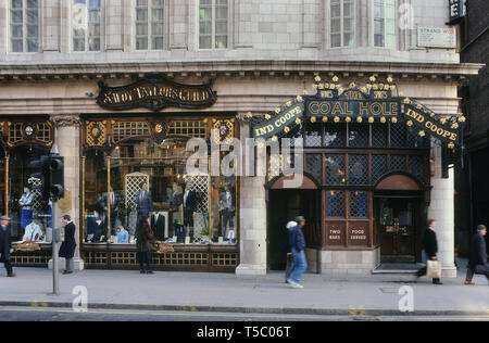 The Coal Hole & Savoy Taylors Guild, The Strand, London, England, UK. Circa 1980's - Stock Image