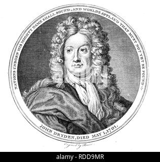 JOHN DRYDEN (1631-1700) English poet and playwright - Stock Image