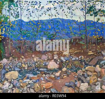 Forest Brook near Leissigen, Ferdinand Hodler, 1904, Zurich Kunsthaus, Zurich, Switzerland, Europe - Stock Image