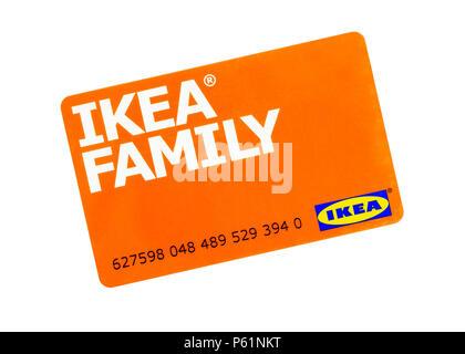 Ikea Family Loyalty Card - Stock Image