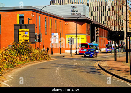 Sheffield,  The Moor Market,  England - Stock Image