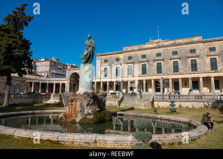 Greece Corfu Corfu Town an old palace is now the Museum of Asian Art - Stock Image