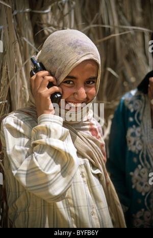 Young teen Bedouin girl, Sinai Peninsula, Egypt, Africa - Stock Image