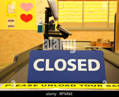 Closed Checkout Aisle - Stock Image