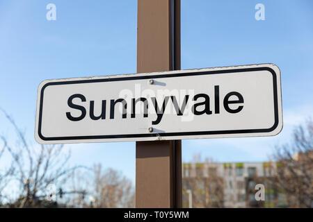Sunnyvale, sign; California, USA - Stock Image