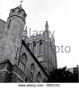St Bridget's Roman Catholic Church in Philadelphia, PA on Midvale Avenue, East Falls neighborhood. - Stock Image