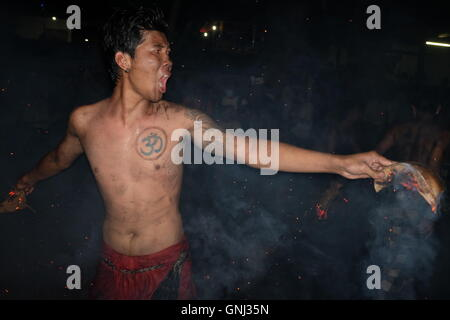 Fire Fighter in Ubud - Stock Image