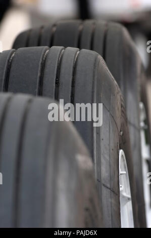 tread on main undercarriage tyres at the 2005 Paris AirShow, Salon-du-Bourget - Stock Image