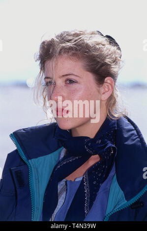 Fiona Schwartz, deutsche Film- und Fernsehschauspielerin, in der Fernsehserie 'Gegen den Wind', Deutschland 1995. German movie and TV actress Fiona Schwartz in a German TV series, Germany 1995. - Stock Image