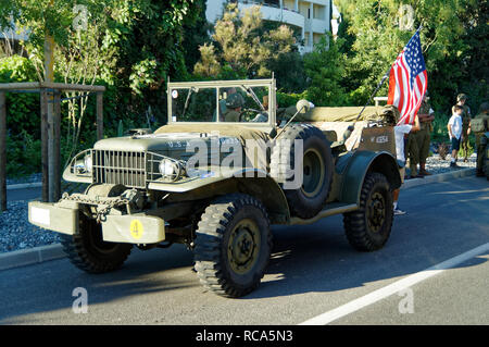 A Dodge WC-56 during the 74th Anniversary of Operation Dragoon, the Allied invasion of the French Riviera (15 - 26 August 1944) - Stock Image