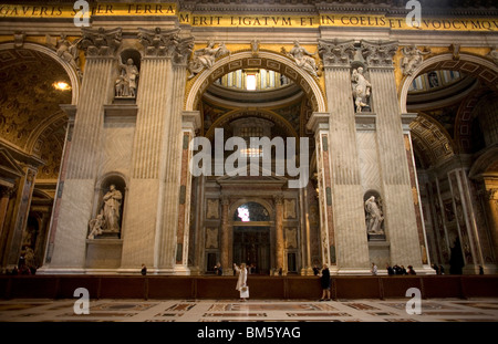 Tourists take pictures in St. Peter's Basilica in Vatican City, Rome, March 9, 2008. Photo/Chico Sanchez - Stock Image