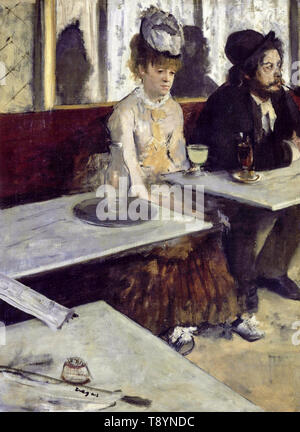 Edgar Degas, In a café or L'Absinthe, painting, 1873 - Stock Image