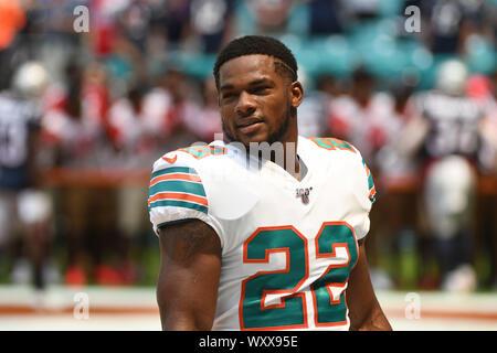 September 15, 2019: Mark Walton #22 of Miami before the NFL ...