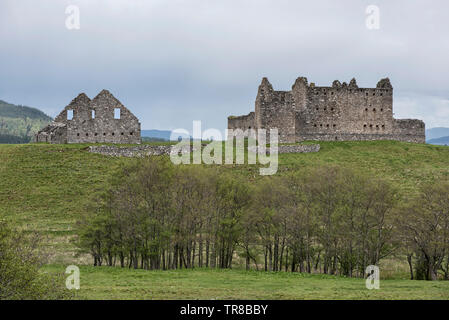 Ruthven Barracks owned by Historic Scotland near Kingussie in Cairngorms National Park, Scotland, UK. - Stock Image