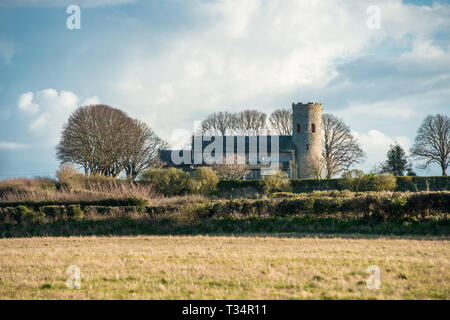 St Margaret's Church is a round-tower church in Burnham Norton, Norfolk, England, UK. Likely to have been built in the 11th century. - Stock Image