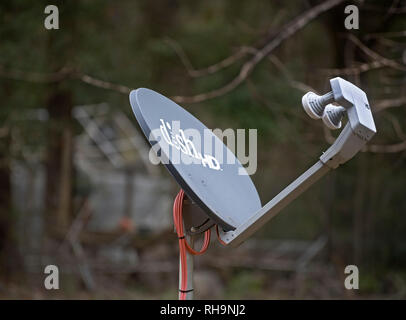 Dish TV High Definition Receiver at a home in rural North Florida. - Stock Image