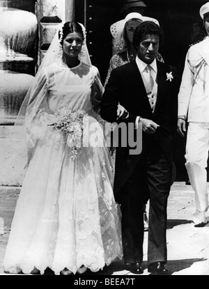 Caroline, Princess of Hanover, and Philippe Junot are married in Monaco. - Stock Image