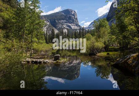 Mirror Lake, Yosemite National Park, California, USA - Stock Image