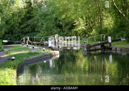 A Lock on the Grand Union Canal Near Hemel Hempstead - Stock Image