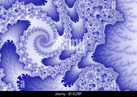 Clockwise tongues rotate around a fractal spiral - Stock Image
