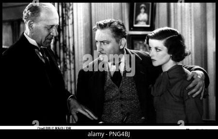 Prod DB © RKO / DR HERITAGE (A BILL OF DIVORCEMENT) de George Cukor 1932 USA avec Henry Stephenson, John Barrymore et Katharine Hepburn - Stock Image
