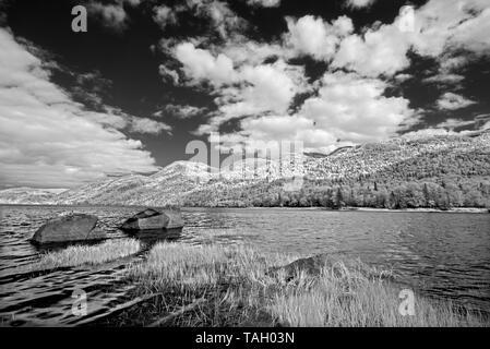 Shoreline in bay of he Saguenay River Parc national du Fjord-du-Saguenay Quebec Canada - Stock Image
