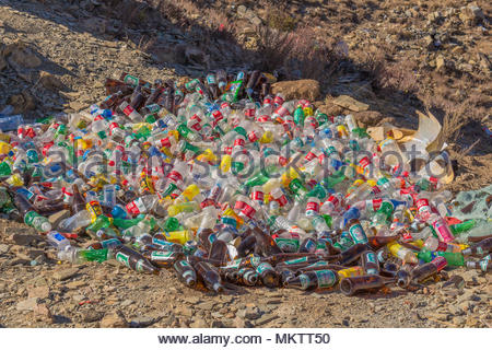 Environmental Horror in Tibet in the Yamdrok Lake area - Stock Image