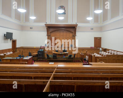 Courtroom at the Sherriff's Courts in Aberdeen, Scotland - Stock Image