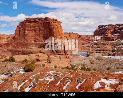 On the White House Ruin trail. Canyon de Chelly National Monument, Arizona. The only national monument administered by Native Americans. - Stock Image