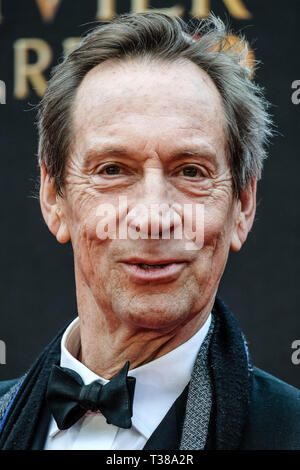 London, UK. 7th Apr 2019. Jonathan Hyde poses on the red carpet at the Olivier Awards on Sunday 7 April 2019 at Royal Albert Hall, London. Picture by Credit: Julie Edwards/Alamy Live News - Stock Image