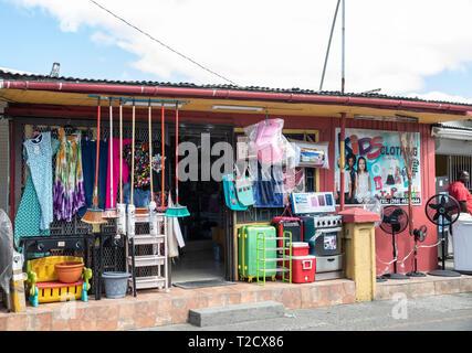 Shops in Saint John's, Capital of Antigua and Barbuda - Stock Image